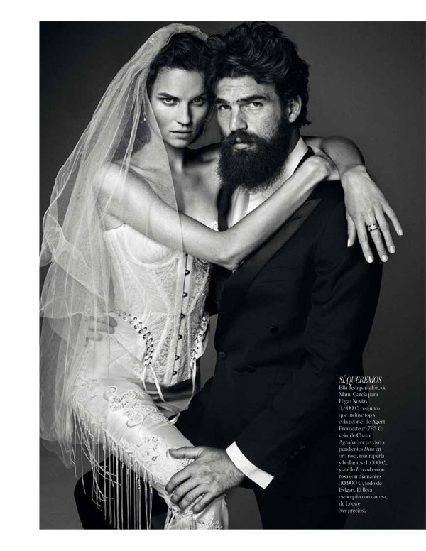 vogue brides alvaro10 Egle Tvirbutaite Poses for Alvaro Beamud Cortes in Vogue Spain Brides