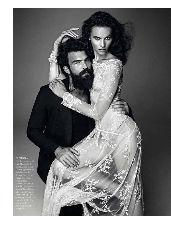 vogue brides alvaro3 Egle Tvirbutaite Poses for Alvaro Beamud Cortes in Vogue Spain Brides