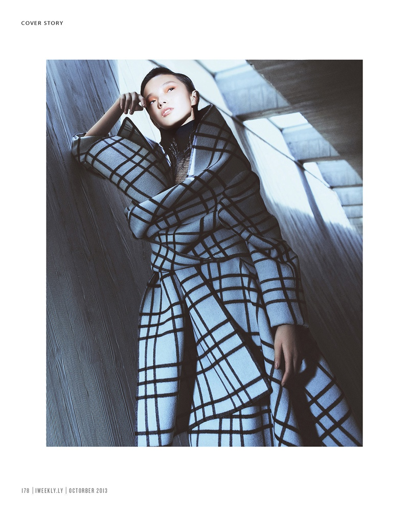 xiao wen ju model2 Xiao Wen Ju Gets Futuristic for Charles Guo in Modern Weekly Spread