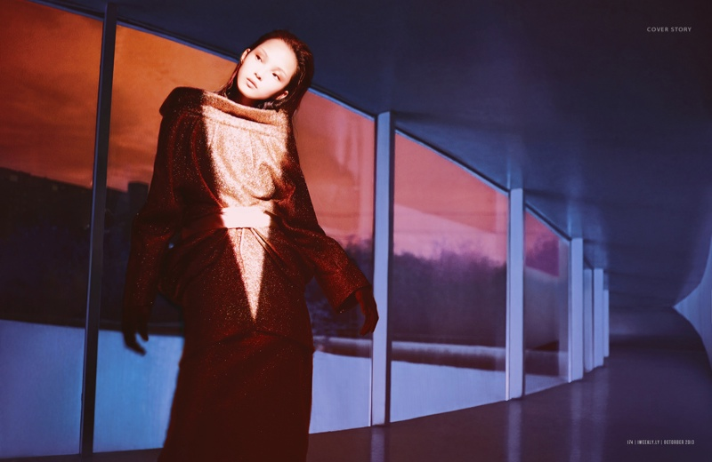 xiao wen ju model5 Xiao Wen Ju Gets Futuristic for Charles Guo in Modern Weekly Spread
