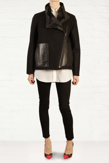 Helmut Lang Reversible Wool and Fur Jacket Fashion for the Festive Season