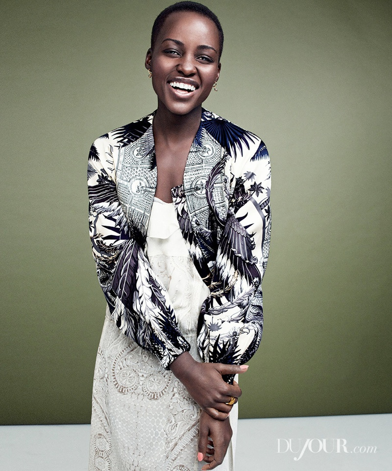 Lupita Nyongo1 Lupita Nyongo Poses for DuJour Magazine Shoot