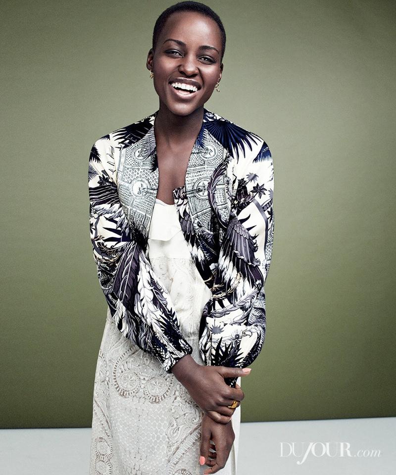 Lupita Nyong'o Poses for DuJour Magazine Shoot
