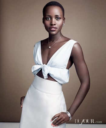 Lupita Nyong'o Poses for DuJour Magazine Shoot