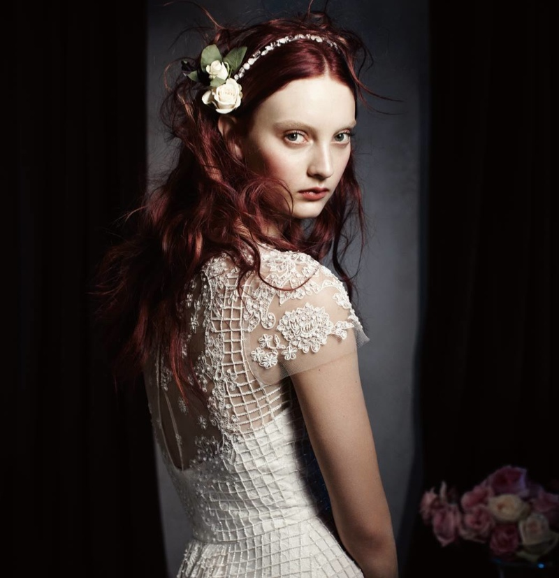 Monique Lhuillier Bridal 2014 1 Codie Young Wows in Monique Lhuillier Bridal 2014 Campaign