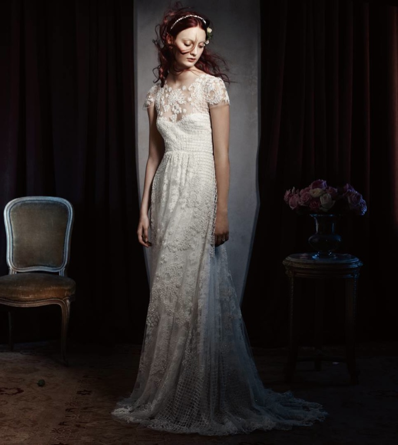 Monique Lhuillier Bridal 2014 2 Codie Young Wows in Monique Lhuillier Bridal 2014 Campaign
