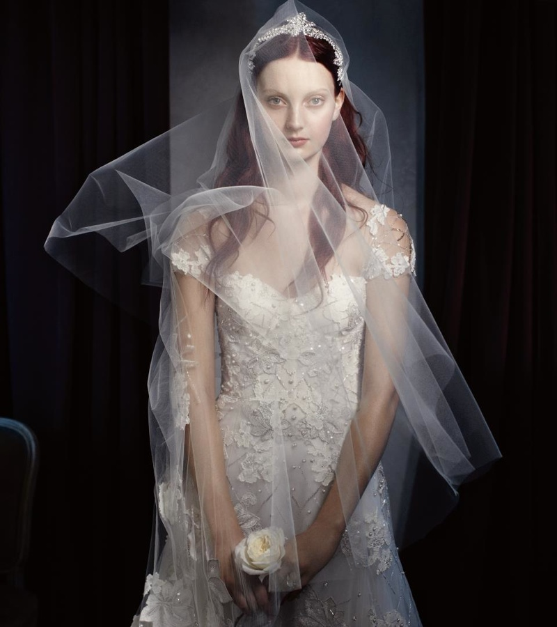 Monique Lhuillier Bridal 2014 3 Codie Young Wows in Monique Lhuillier Bridal 2014 Campaign
