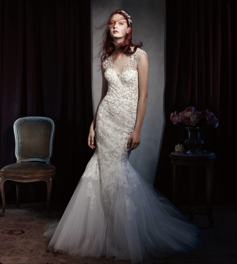 Codie Young Wows in Monique Lhuillier Bridal 2014 Campaign