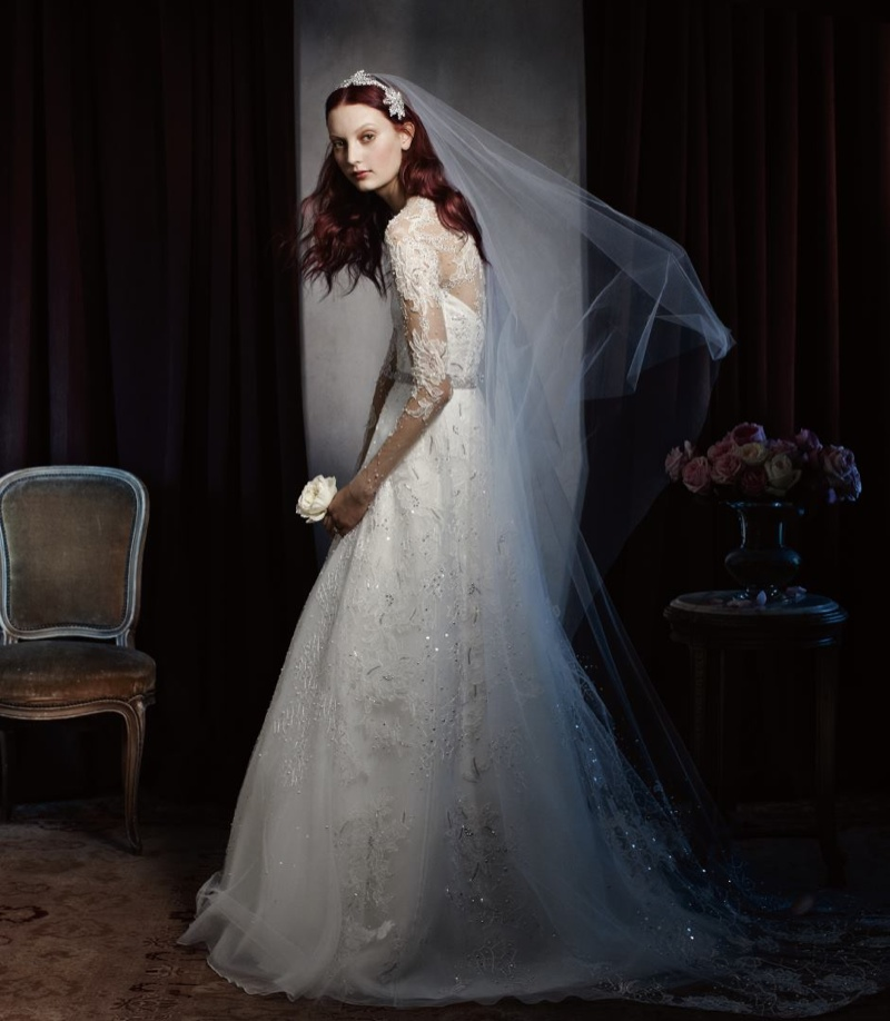 Monique Lhuillier Bridal 2014 6 Codie Young Wows in Monique Lhuillier Bridal 2014 Campaign