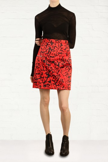 Preen by Thornton Bregazzi Atomic Printed Satin Skirt Fashion for the Festive Season