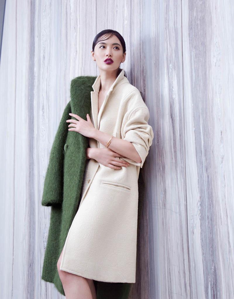 Bonnie Chen Dons Coats for Stockton Johnson in Grazia
