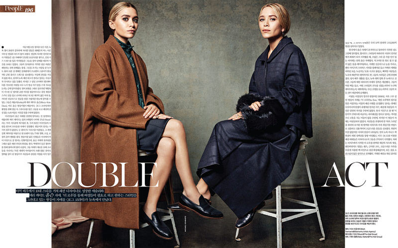 VK OLSEN 1 Mary Kate & Ashley Olsen Pose for Michael Schwartz in Vogue Korea