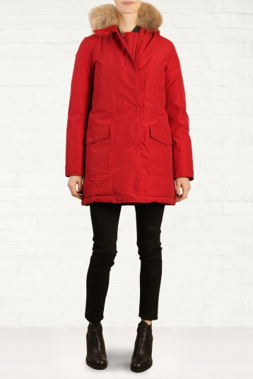 Woolrich Red Slim Arctic Parka Fashion for the Festive Season