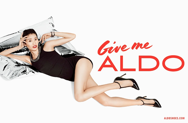 Image from Aldo's Holiday 2013 Campaign shot by Terry Richardson