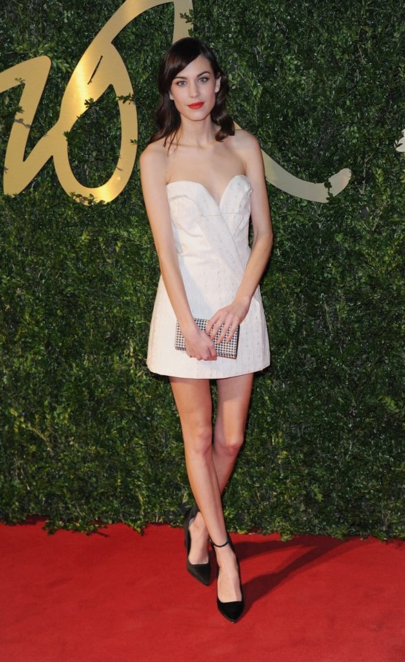 alexa chung stella mccartney dress Daisy Lowe, Rosie Huntington Whiteley + More Stars at the 2013 British Fashion Awards