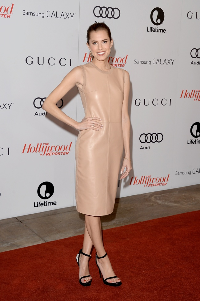 Allison Williams in Calvin Klein Collection at The Hollywood Reporter Breakfast