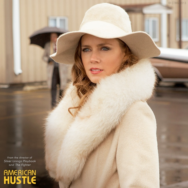 amy fur hat 70s Glam: Fashion Inspired by American Hustle Film