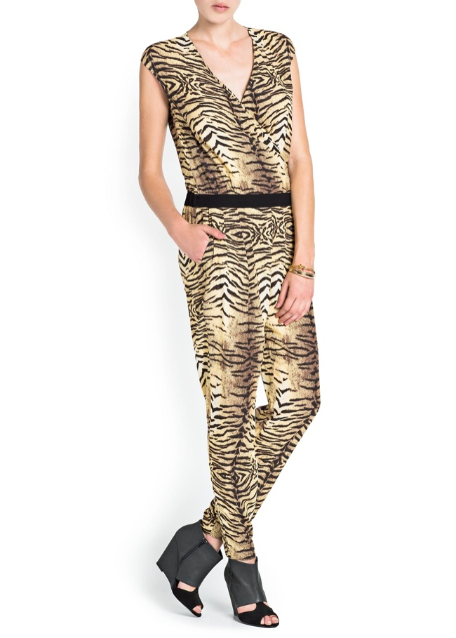 animal print jumpsuit Mango Sale: Get Fall/Winter Items at 50% Off