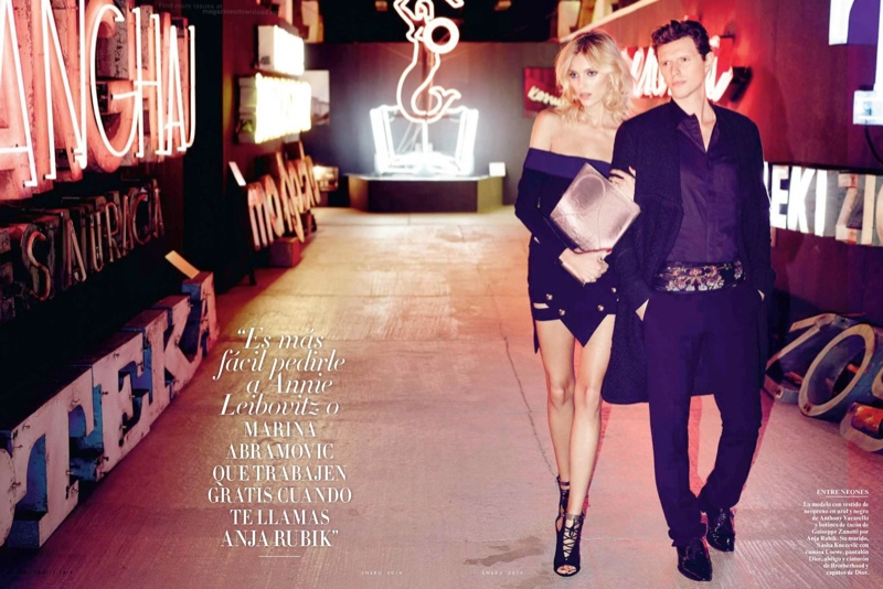 anja rubik 2014 5 Anja Rubik Gets Glam for January Issue of Vanity Fair Spain