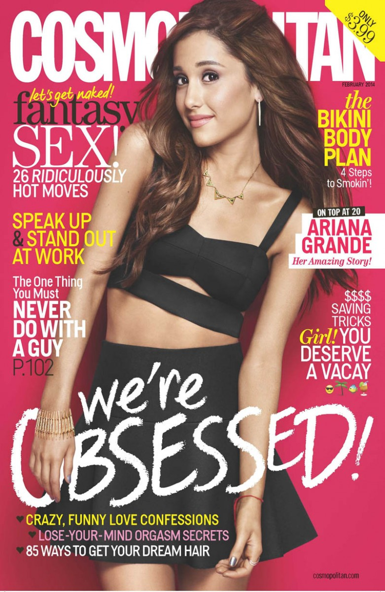 ariana grande cosmo1 781x1200 Ariana Grande Covers Cosmopolitan, Talks Being a Positive Role Model