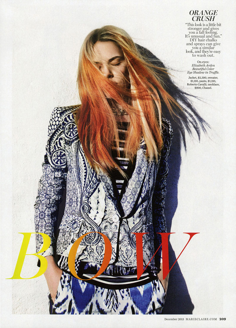 ashley smith colored hair2 Ashley Smith Gets Colorful for Enrique Badulescu in Marie Claire