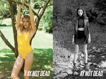 Dree Hemingway + Magda Laguinge Front AY Not Dead Spring 2014 Campaign