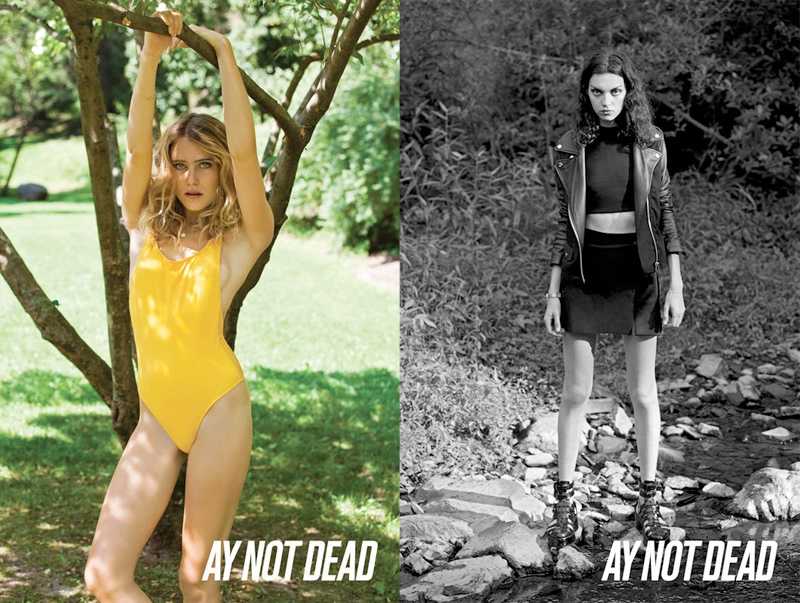 ay not dead spring 2014 1 Dree Hemingway + Magda Laguinge Front AY Not Dead Spring 2014 Campaign