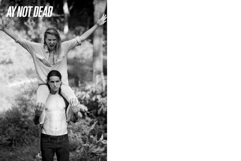 ay not dead spring 2014 3 Dree Hemingway + Magda Laguinge Front AY Not Dead Spring 2014 Campaign