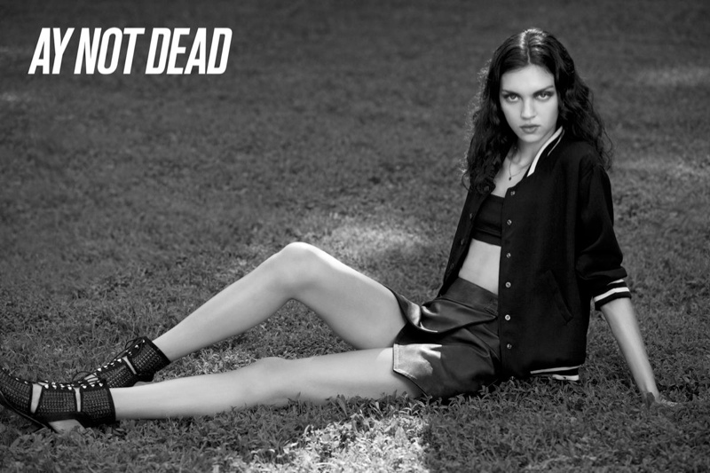 ay not dead spring 2014 5 Dree Hemingway + Magda Laguinge Front AY Not Dead Spring 2014 Campaign