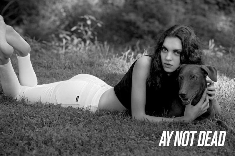 Dree Hemingway + Magda Laguinge Front AY Not Dead Spring 2014 Campaign