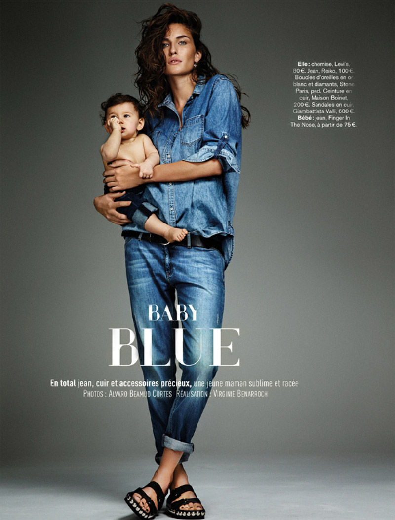 Marjolaine Rocher Has Baby Blues for Glamour France by Alvaro Beamud Cortes