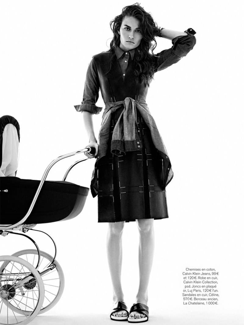 baby blues9 Marjolaine Rocher Has Baby Blues for Glamour France by Alvaro Beamud Cortes