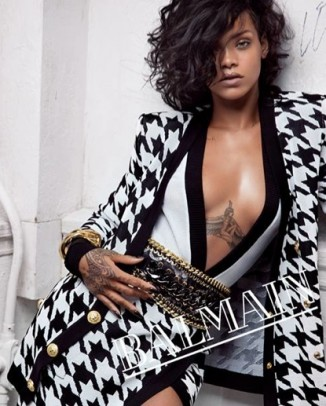 balmain rihanna photos2 326x406 Patrycja Gardygajlo Stars in 2014 Polish Embassy in Paris Calendar