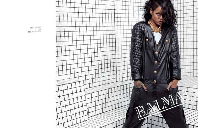 balmain rihanna photos3 See More Photos from Rihannas Balmain Advertisements