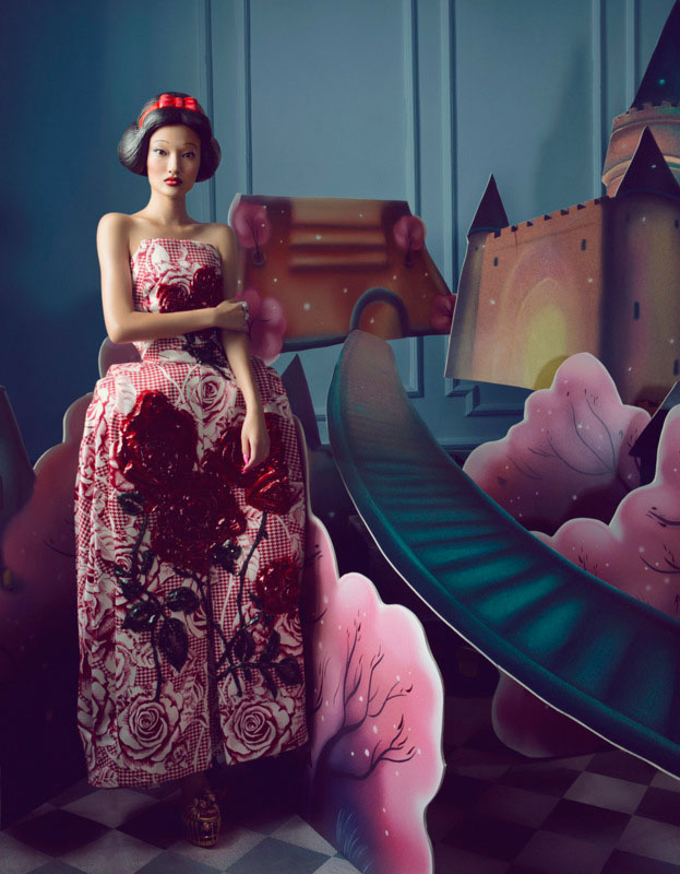 bazaar fairy tales2 Shxpir Captures Fairy Tale Fashion for Harpers Bazaar China