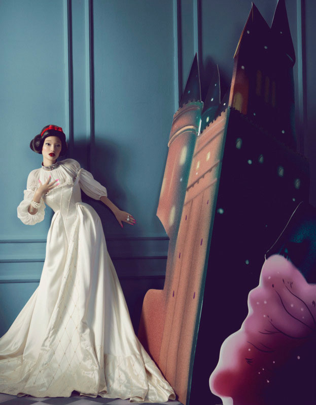 bazaar fairy tales6 Shxpir Captures Fairy Tale Fashion for Harpers Bazaar China