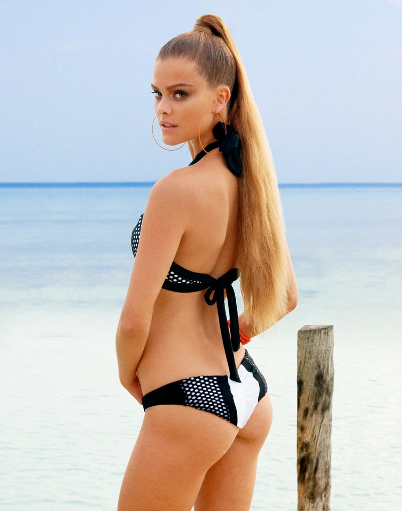 beach bunny spring 2014 nina agdal4 Nina Agdal Models Beach Bunny Swimwear Spring 2014 Collection