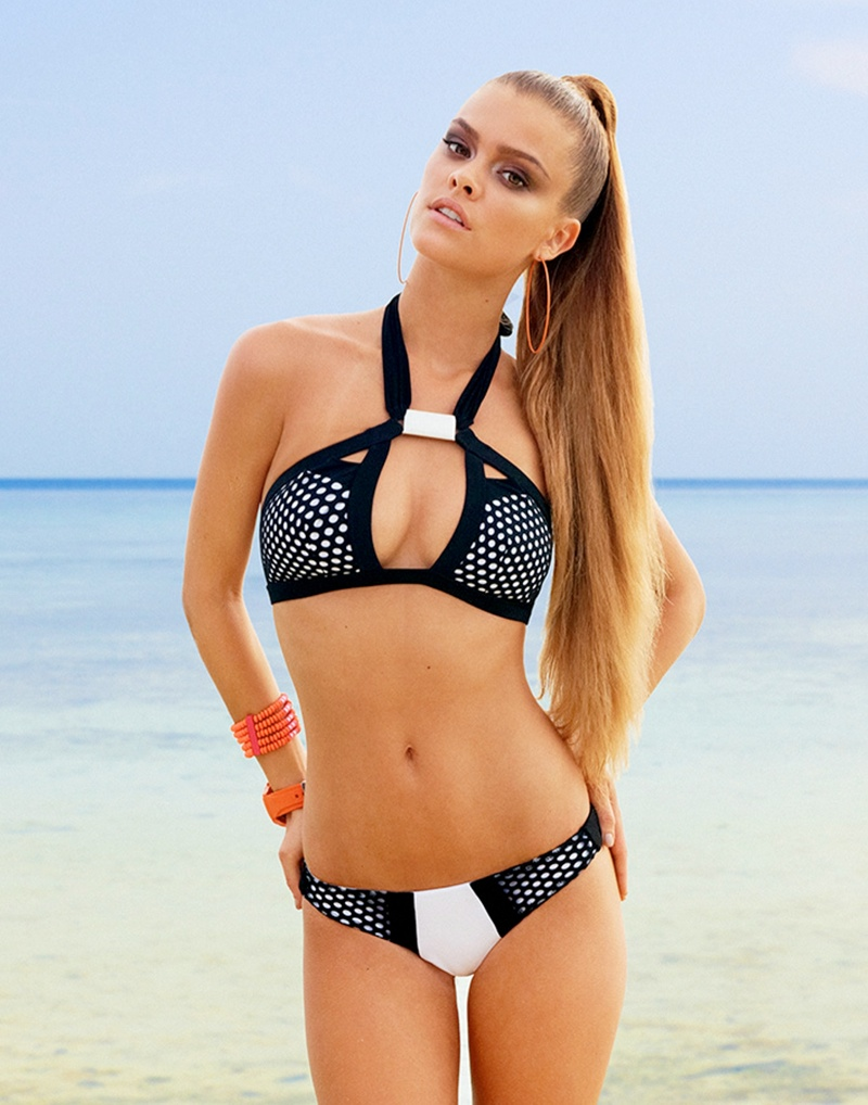 beach bunny spring 2014 nina agdal7 Nina Agdal Models Beach Bunny Swimwear Spring 2014 Collection