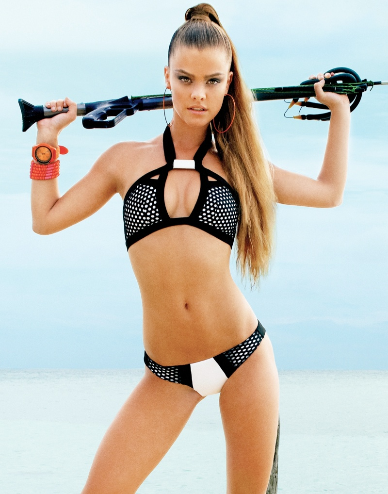 beach bunny spring 2014 nina agdal8 Nina Agdal Models Beach Bunny Swimwear Spring 2014 Collection