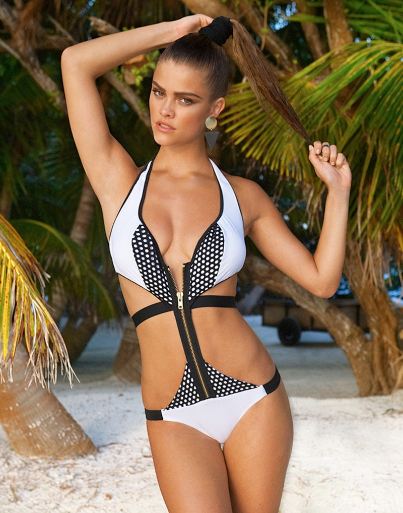 beach bunny spring 2014 nina agdal9 Nina Agdal Models Beach Bunny Swimwear Spring 2014 Collection