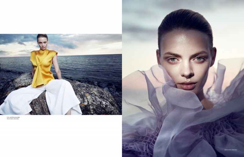 Stef van der Laan Gets Ethereal for Scandinavia S/S/A/W by Benjamin Vnuk