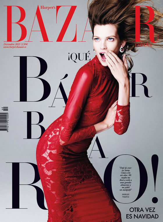 bette franke nagi sakai1 Bette Franke is Red Hot for Nagi Sakai in Harpers Bazaar Spain