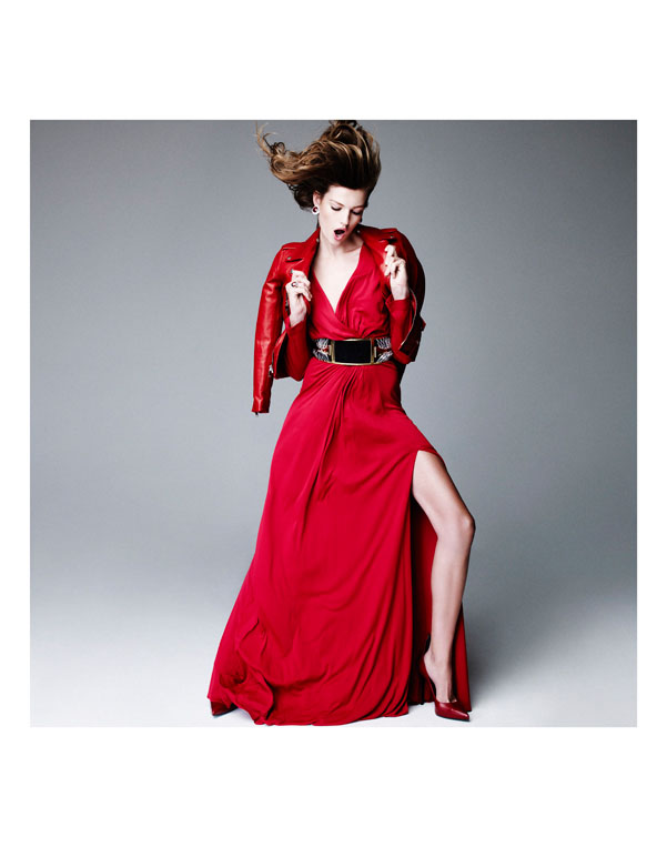 bette franke nagi sakai2 Bette Franke is Red Hot for Nagi Sakai in Harpers Bazaar Spain