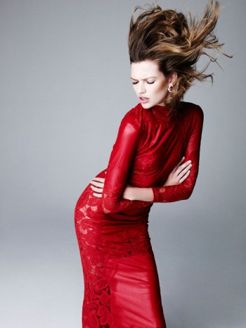 Bette Franke is Red Hot for Nagi Sakai in Harper's Bazaar Spain