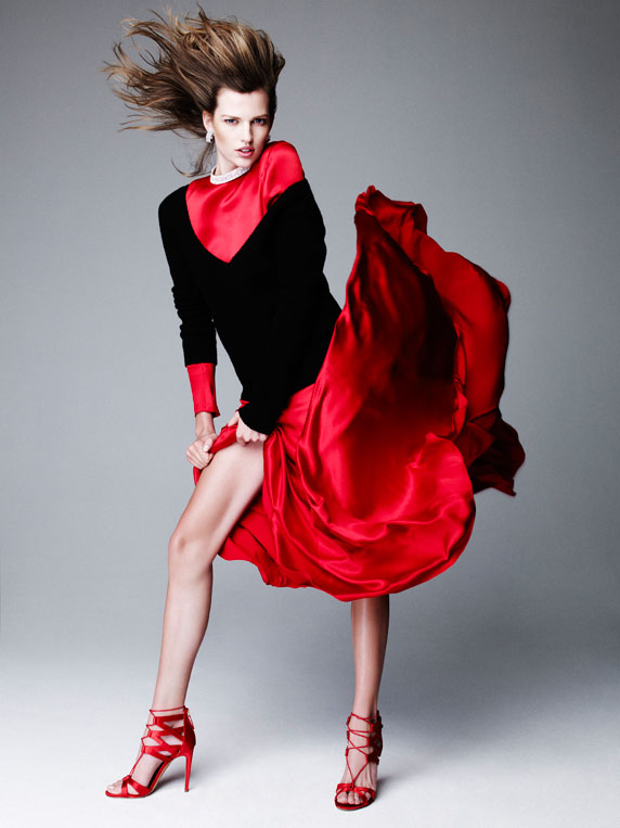 bette franke nagi sakai5 Bette Franke is Red Hot for Nagi Sakai in Harpers Bazaar Spain