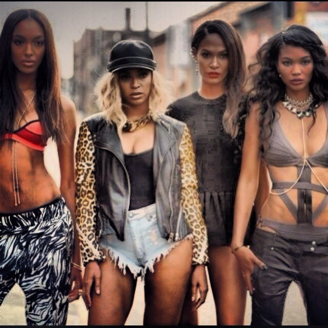 beyonce black models Beyonce Taps Chanel Iman, Joan Smalls + Jourdan Dunn for New Video