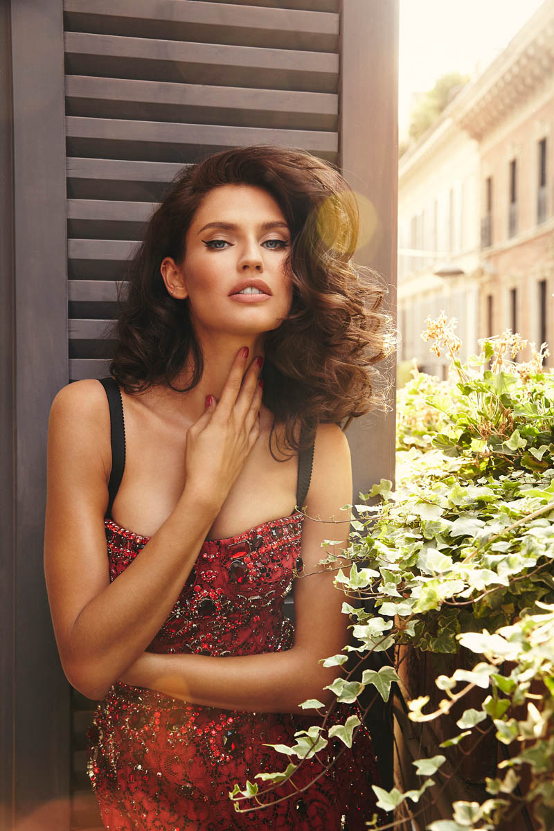bianca lingerie shoot2 Bianca Balti Stuns in Dolce & Gabbana for Esquire Mexico