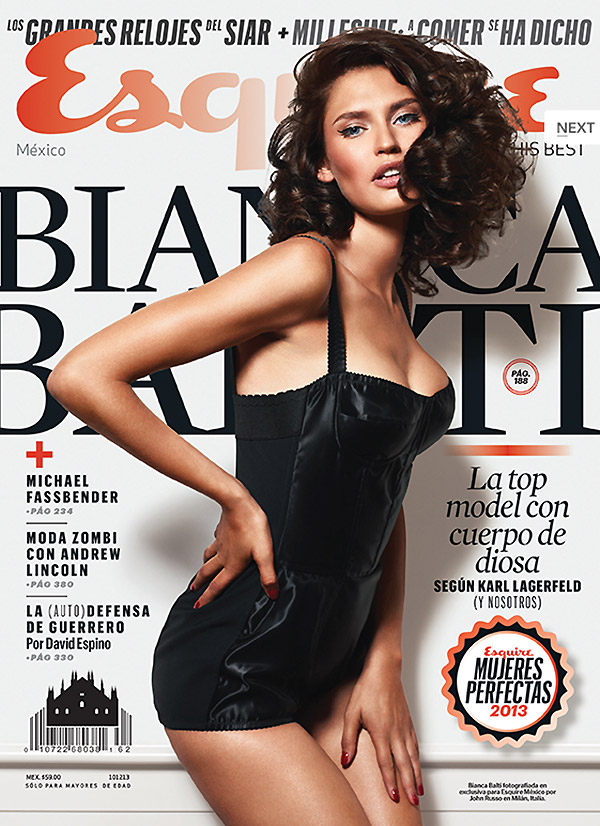 bianca lingerie shoot9 Bianca Balti Stuns in Dolce & Gabbana for Esquire Mexico