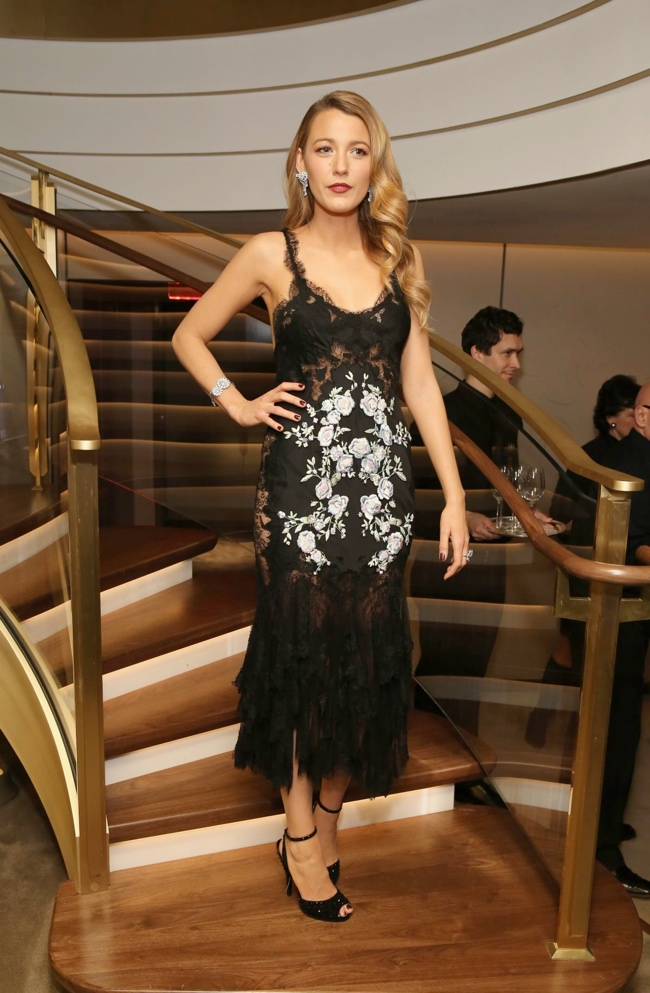 Blake Lively Wears Marchesa at Van Cleef & Arpels Event