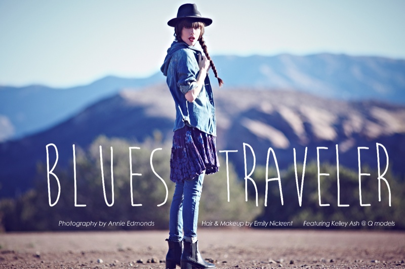 blues traveler1 Kelley Ash Has the Blues for Free People Shoot